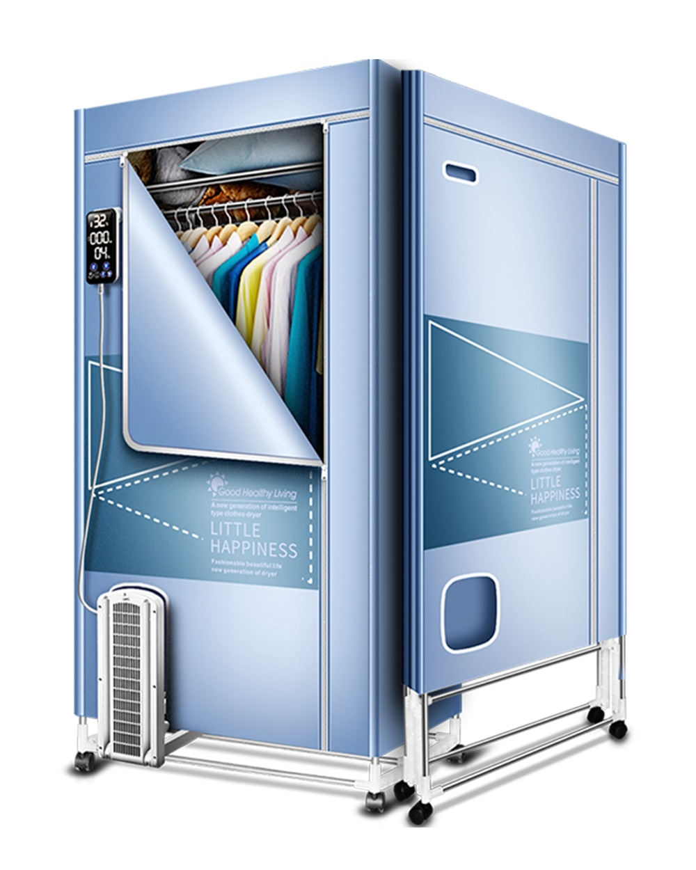 Kasydoff Foldable Clothes Dryer Portable 1500W-1.7 Meters Electric Clothes Drying Rack Energy Saving (Anion) Ventilation Dryer