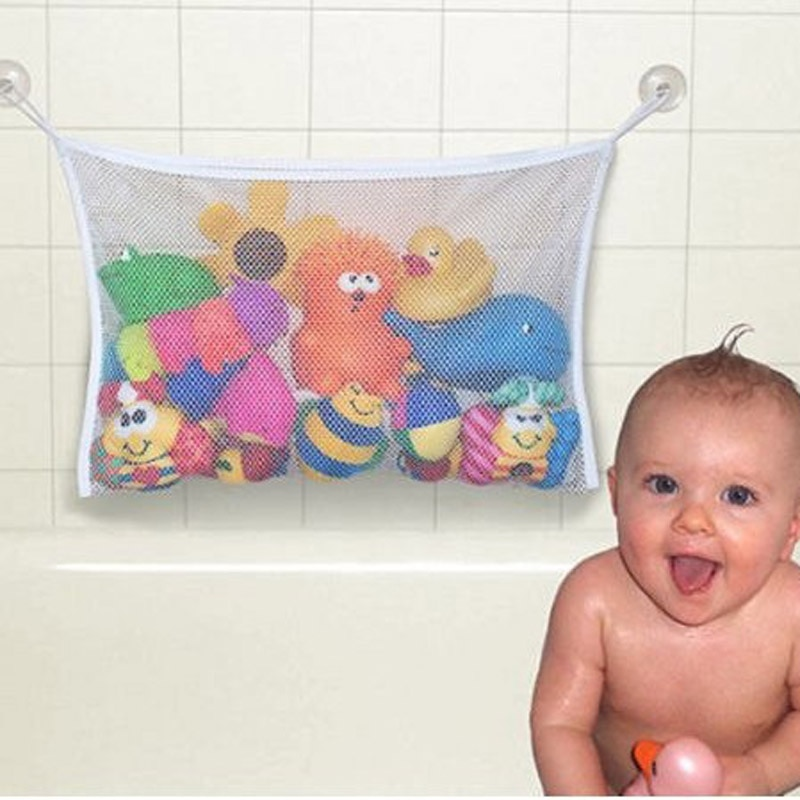 1pc/lot Folding Baby Bathroom Hanging Mesh Bath Toy Storage Bag Net Suction Cup Baskets Shower Toy O