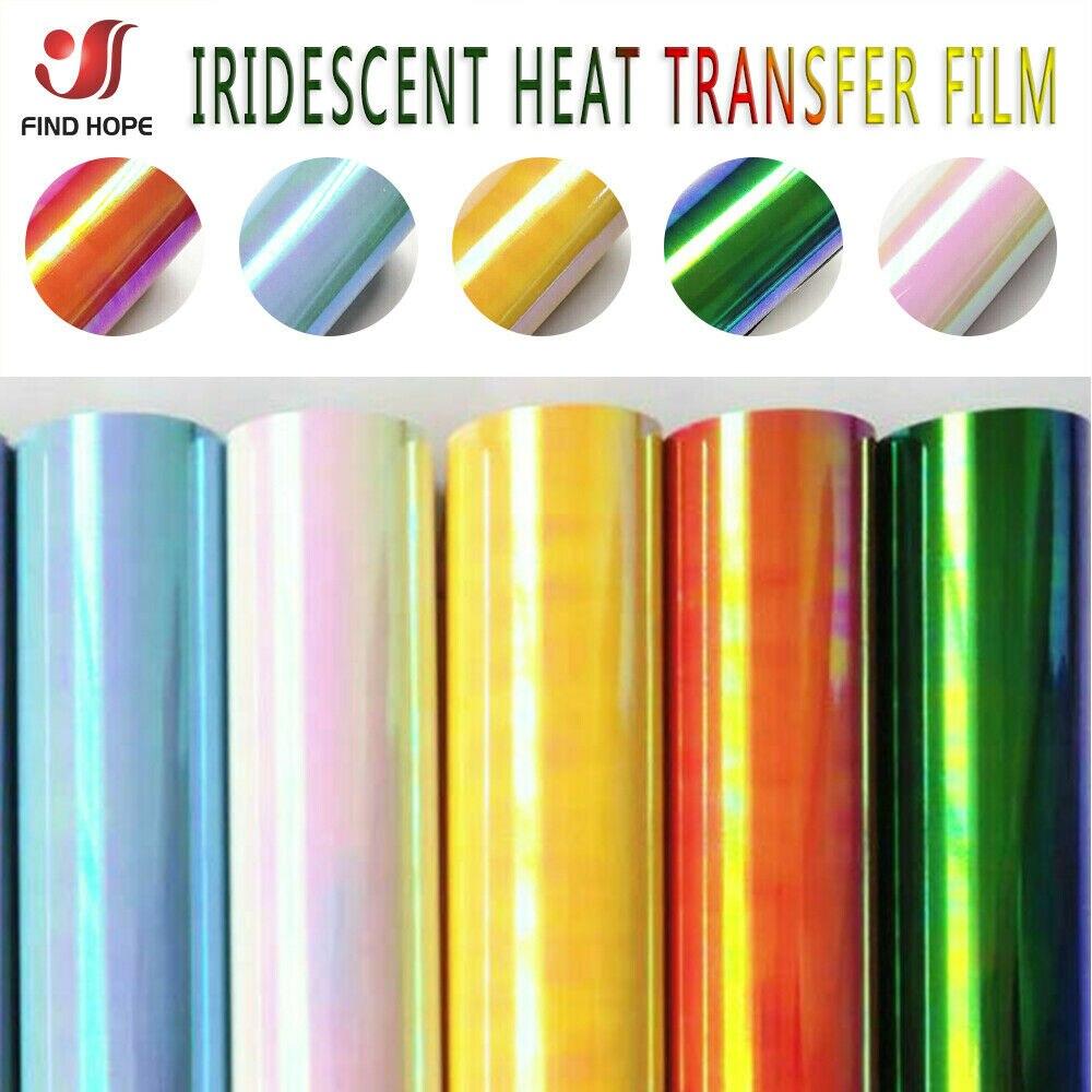 Holographische Wärme Transfer Vinyl Eisen-auf Kleidung HTV für T-Shirts Tasche Hut Handwerk DIY Decor Wärme Drücken Cricut Film 30*25cm/50cm