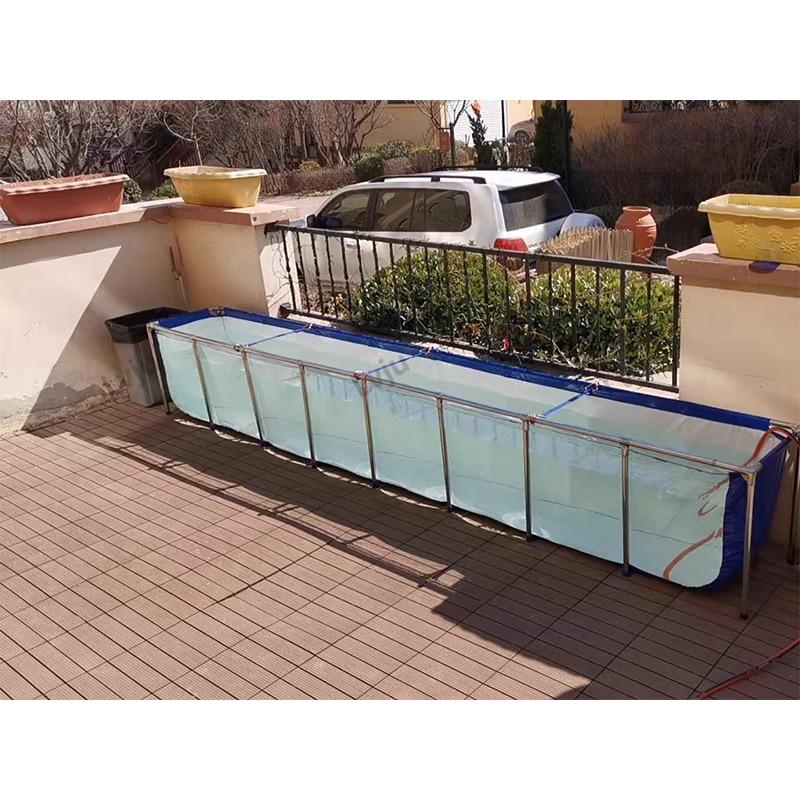 Lvju الأسماك خزان ماء 161 جالون 610 لتر 100*100*61 سنتيمتر اكسسوارات الزينة خزان