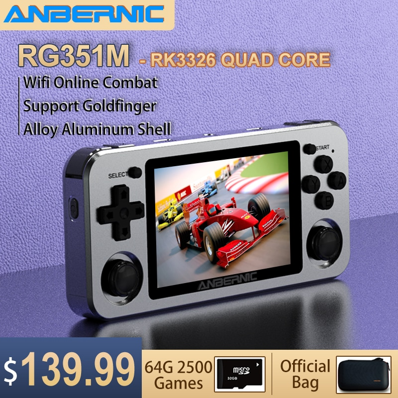 ANBERNIC RG351M RG351P Retro Video Game Console Aluminum Alloy Shell 2500 Game Portable Console RG351 Handheld Game Player enlarge