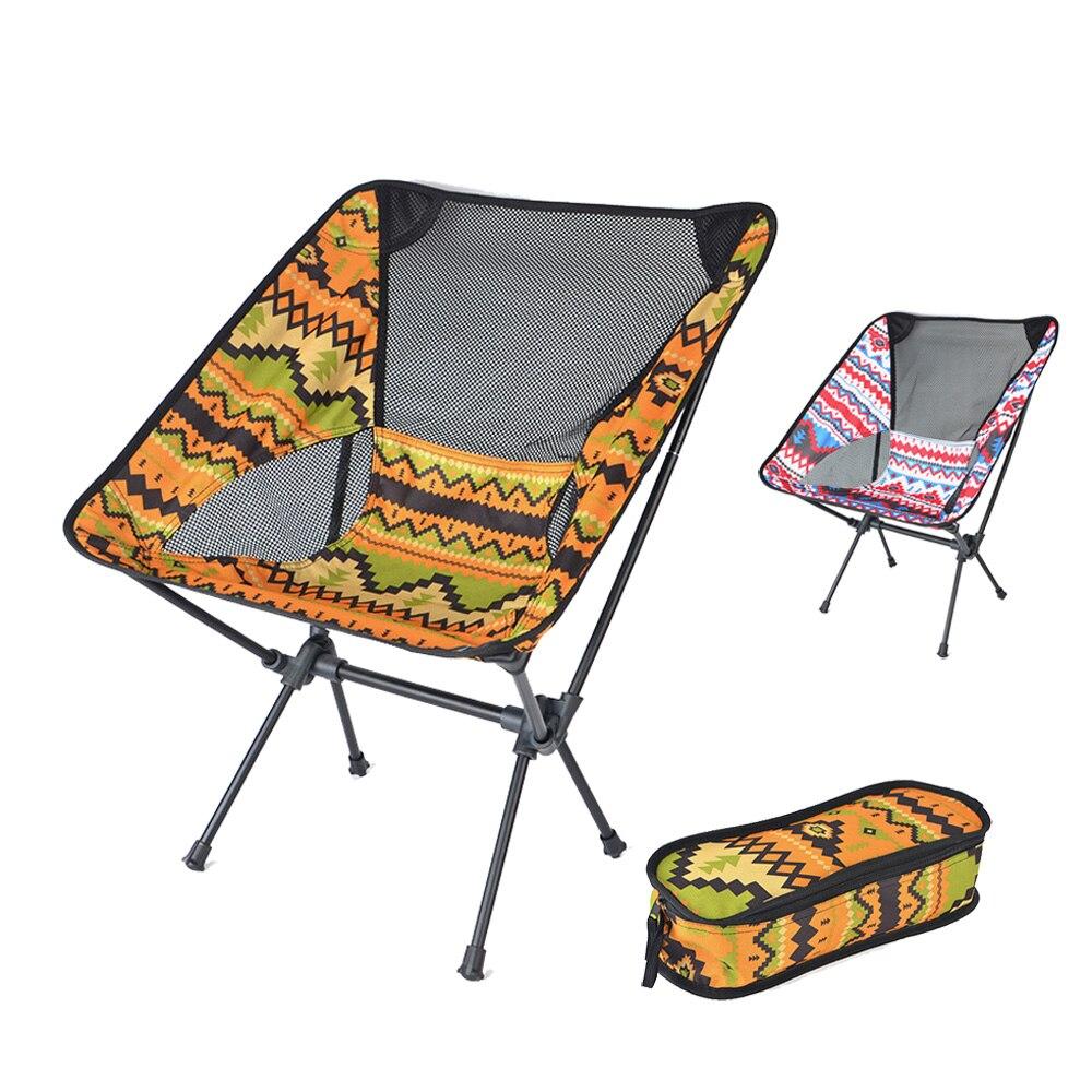Silla plegable portátil HooRu para Picnic, pesca, Camping, silla plegable para exteriores, mochila, sillas ligeras con bolsa de transporte