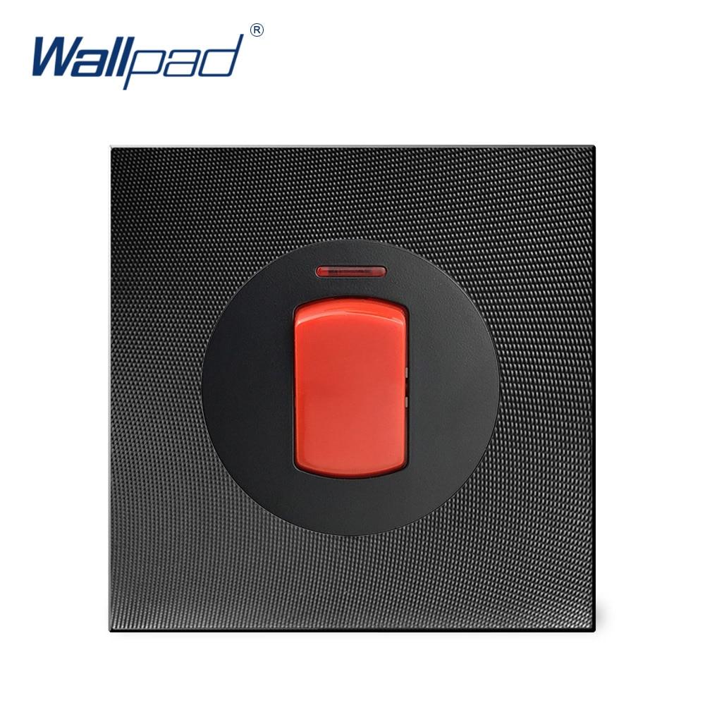 Wallpad 45A interruptor de cocina interruptor de luz de pared con indicador LED Panel de Metal de aluminio
