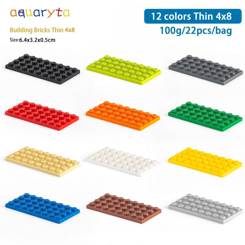 Детали для конструктора Aquaryta Thin4x8, детали, совместимые с сборками и логотипом «сделай сам», развивающие креативные игрушки, подарок для дете...