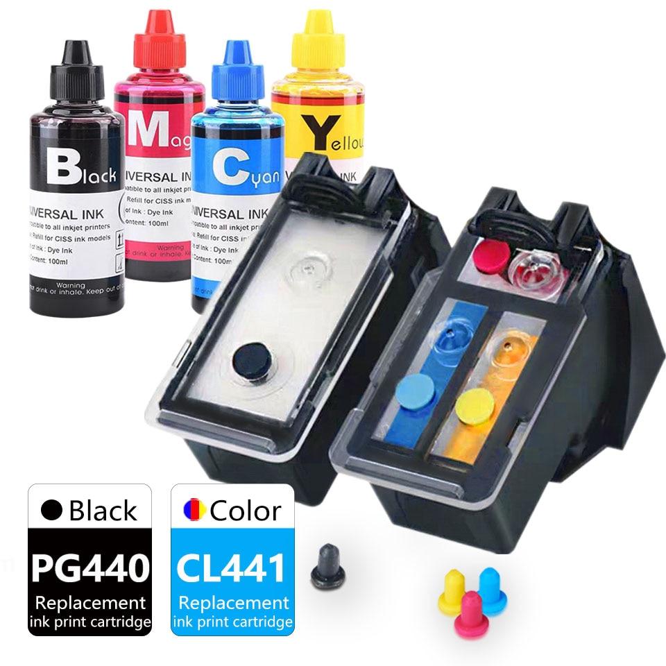 PG440CL441 PIXMA MX374 MX378 MX394 MX434 MX454 MX474 MX514 طابعة خرطوشة حبر استبدال لكانون النافثة للحبر PG440 CL441 XL