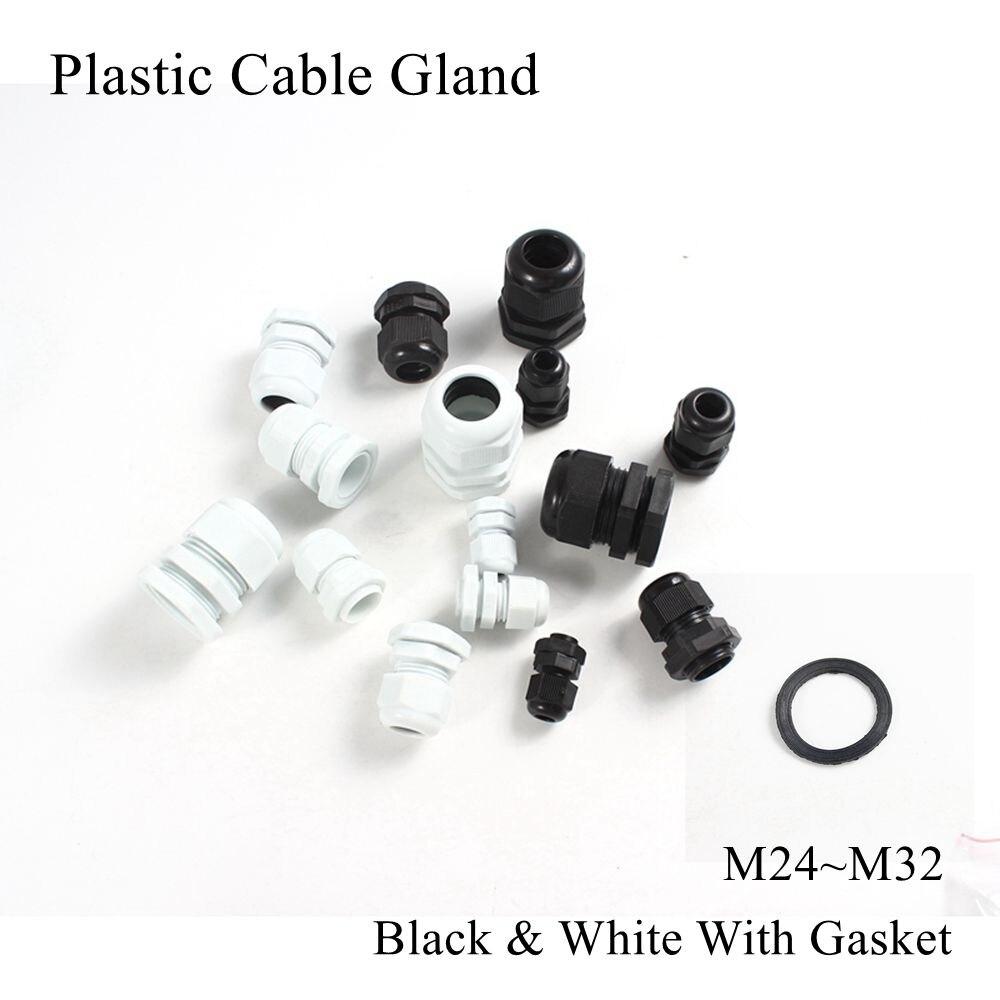 M25 M24 M27 M30 M32 prensaestopas de Cable IP68 impermeables prensaestopas de Cable eléctrico de nailon conector junta de goma Cable con junta