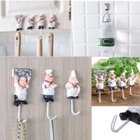 home kitchen resin stainless steel hook wall nail free strong adhesive hook after the door adhesive traceless hook