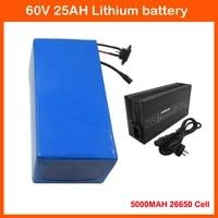 2500w 60v electric scooter battery 60 volt 25ah 20ah 30ah 35ah ebike bateria 5000mah 26650 cell 50a bms 67 2v 5a charger