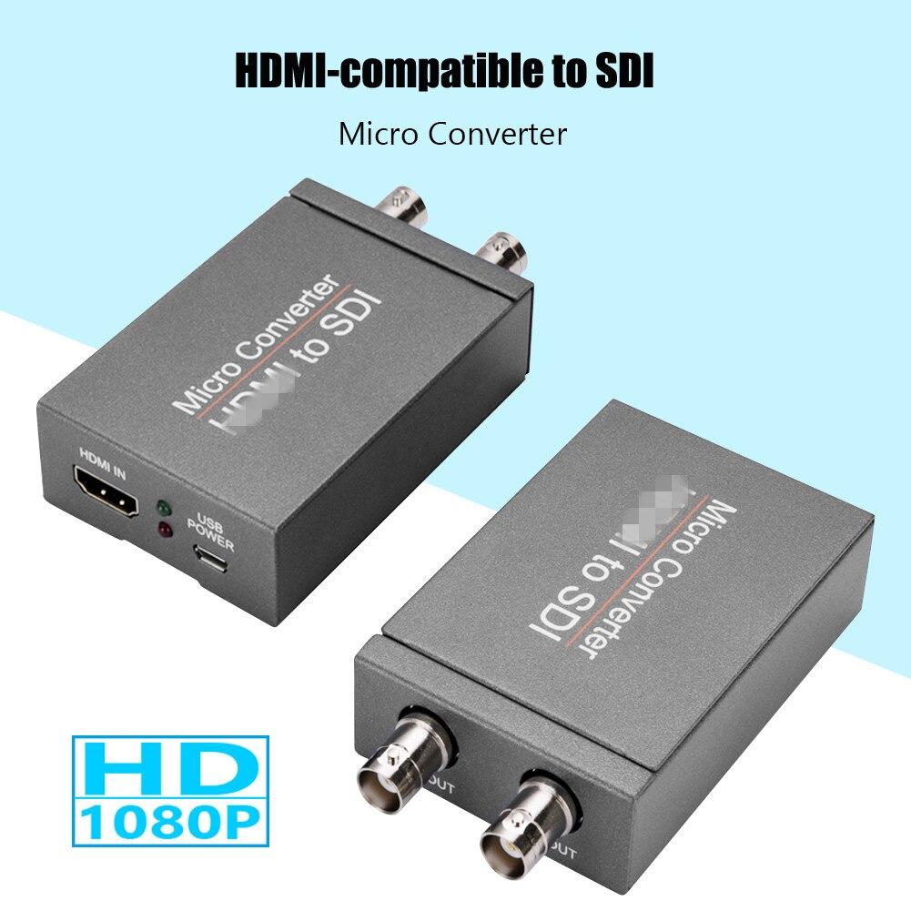 Micro Converter Lightness Portability No Space Occupy 1080P HDMI-compatible to 3G HD SDI Video Audio Adapter for Camera HDTV