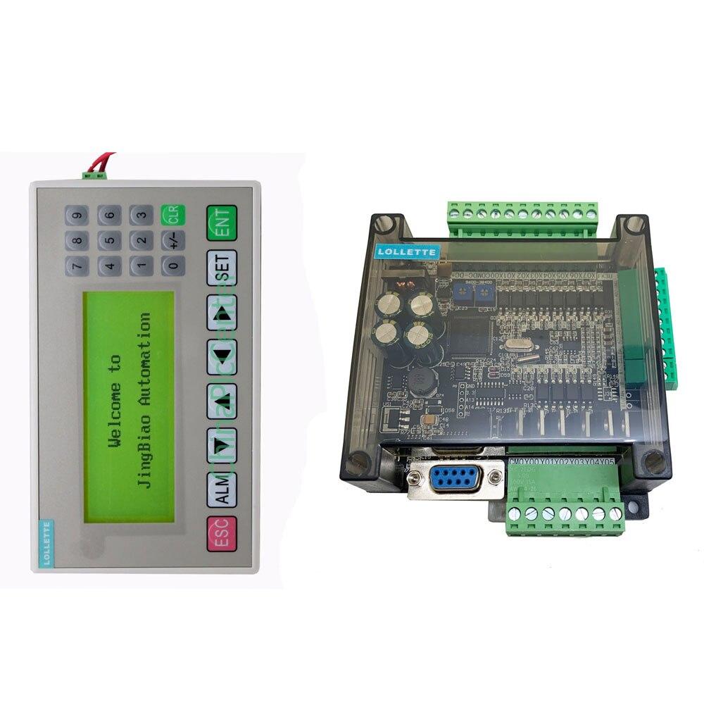 FX3U-14MR FX3U-14MT PLC الصناعية لوحة تحكم RS485 RTC مع شاشات لعرض الرسائل OP320-A