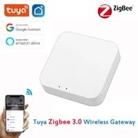 Tuya Gateway     Hub Zigbee 3 0  Mini Bridge  application Smart Life  controle a distance  appareils Zigbee  fonctionne avec Alexa Google Home