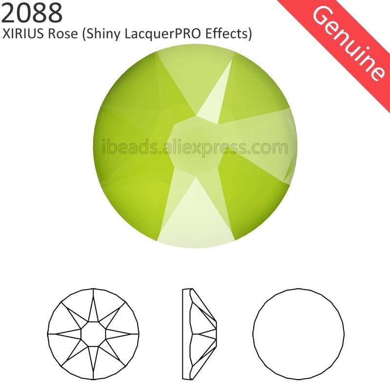 (24 Pcs) Original Crystals from Swarovski 2088 XIRIUS Shiny LacquerPRO Effects flat back rhinestone no hotfix for nail jewelry