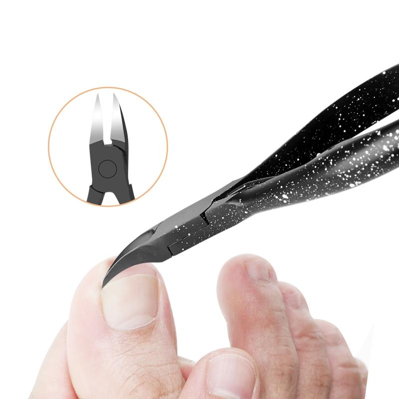 Black Toenail Ingrown Nail Art Cuticle Nipper Clipper Edge Cutter Manicure Scissor Plier Tool Pedicure Dead Skin Remover