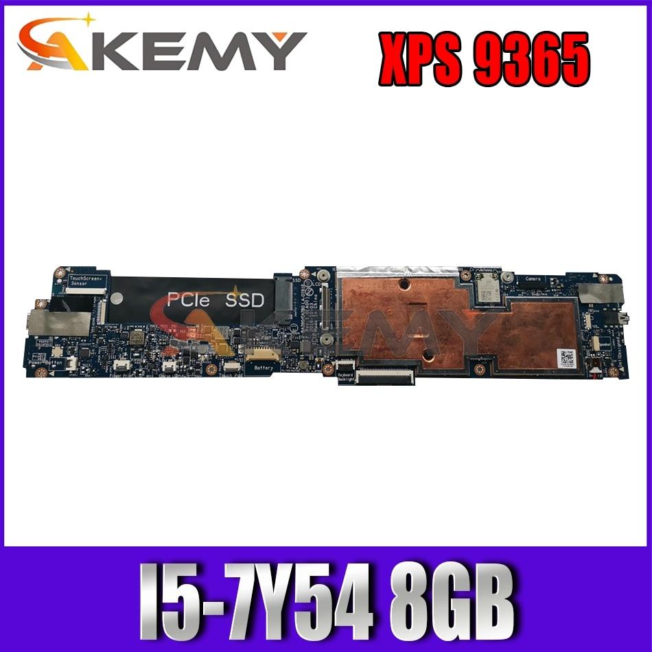 Akemy I5-7Y54 8 جيجابايت لأجهزة الكمبيوتر المحمول DELL XPS 9365 اللوحة الأم باز80 LA-D781P CN-0MGHWM MGHWM اللوحة الرئيسية 100% اختبارها