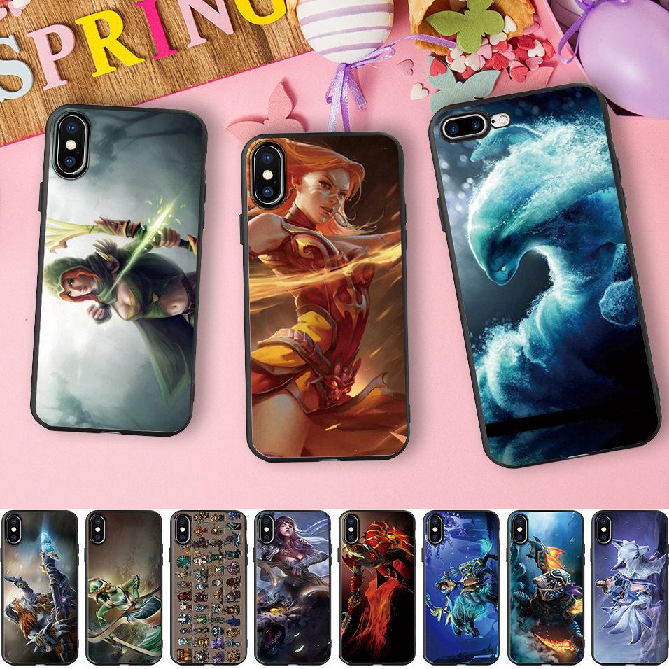Funda Dota 2 para iPhone 6 5 5S SE 6s 7 8 Plus X XR XS 11 Pro Max funda Dota Hero papel suave funda de silicona teléfono Coque