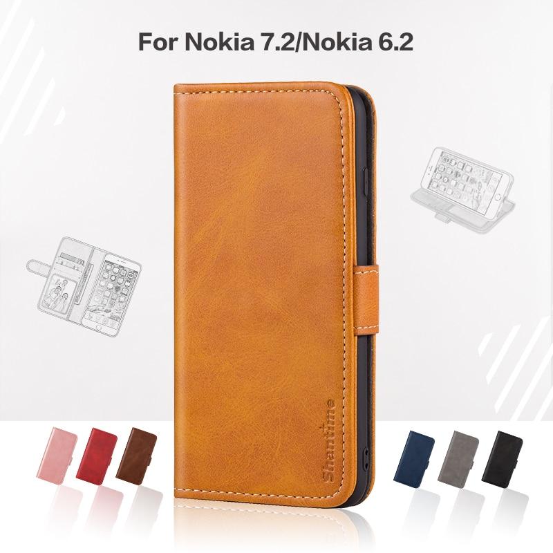 Funda abatible para Nokia 7,2, Funda de cuero de lujo con imán, funda tipo billetera para Nokia 6,2, funda de teléfono