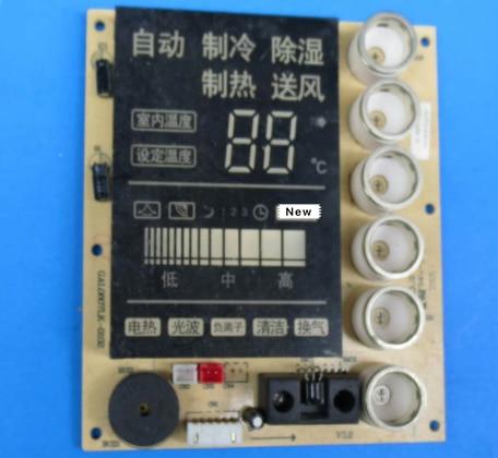 95% nuevo para Galanz Placa de visualización de aire acondicionado Placa de GAL0807LK-0102 buen funcionamiento