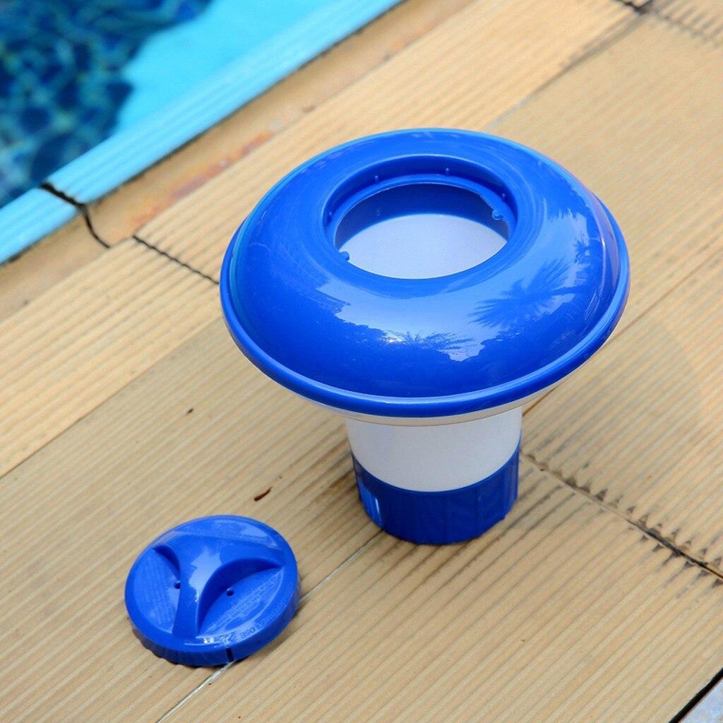 Dispensador de lengüetas de cloro y bromo flotante para piscina, Dosificador ajustable...