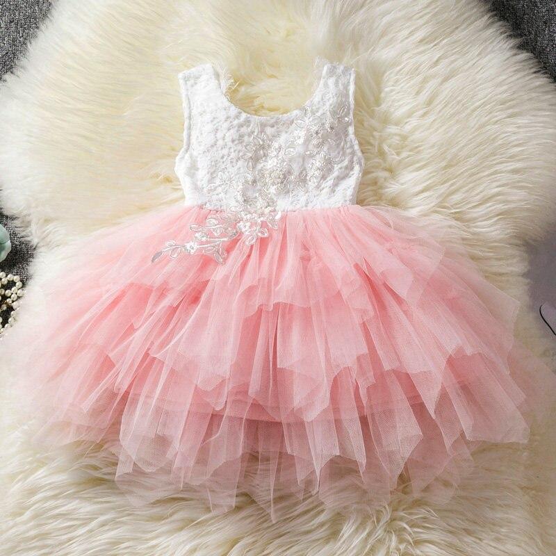 Vestido de boda de princesa para niños, vestido de fiesta sin mangas de lentejuelas para niña, tutú de tul con espalda hueca, vestidos formales de fiesta