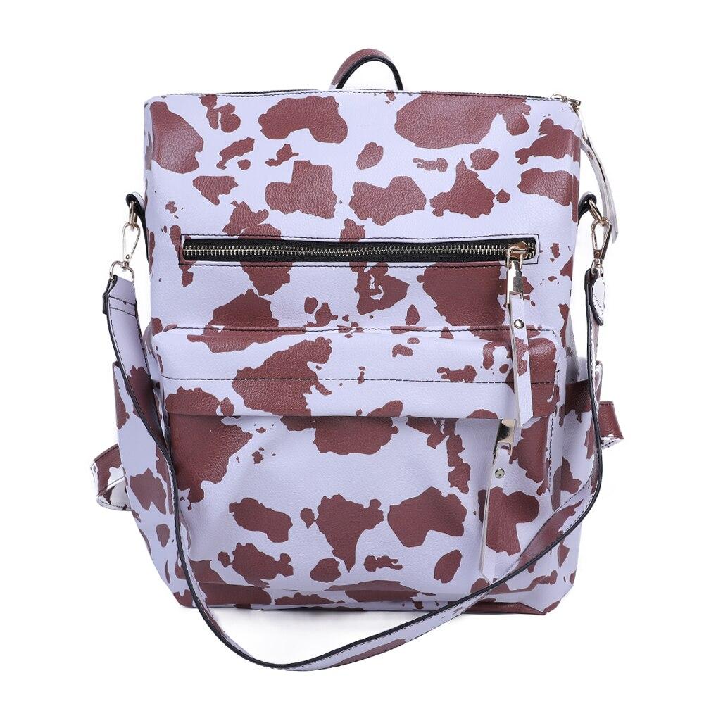 فام حقيبة ظهر أنيقة ريترو سعة كبيرة حقائب النساء بولي Leather حقائب كتف جلدية السفر المدرسة
