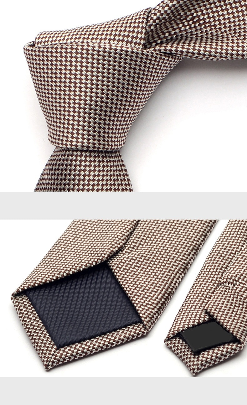 2020 New Arrivals Fashion 6CM Slim Casual Necktie for Men Formal Business Ties Wedding Tie Classic Khaki Neck Tie with Gift Box