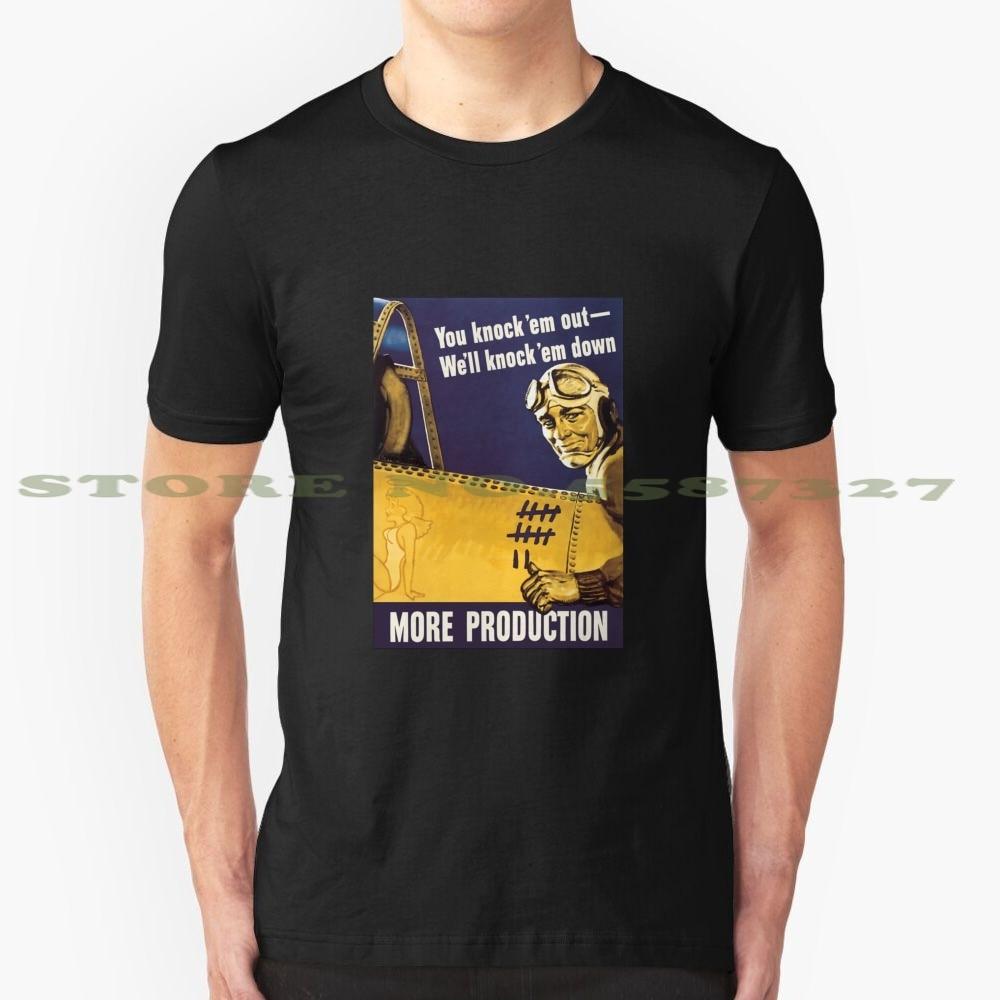 Camiseta con gráfico de Propaganda de la Segunda Guerra Mundial y aviones de gran oferta