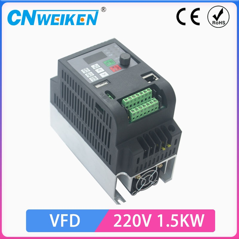 VFD CoolClassic محول تردد 3P 220 فولت الناتج شحن مجاني VFD عاكس التردد العاكس 1.5KW
