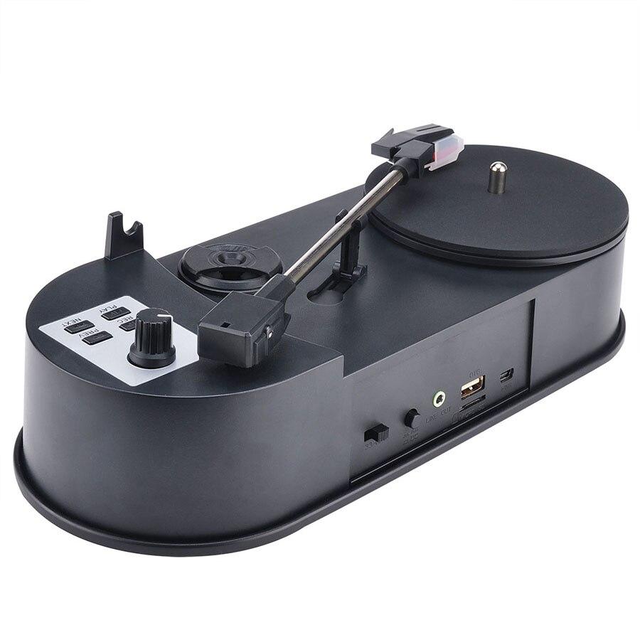 Newest Portable Mini Vinyl Turntable Audio Player Vinyl Turntable to MP3/WAV/CD Converter 45PRM/30PRM CD Player With Speaker enlarge