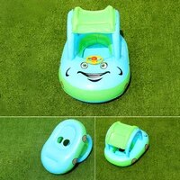 summer baby inflatable car boat swimming ring inflatable cruise toy child seat swimming pool sunshade boat childrens toys