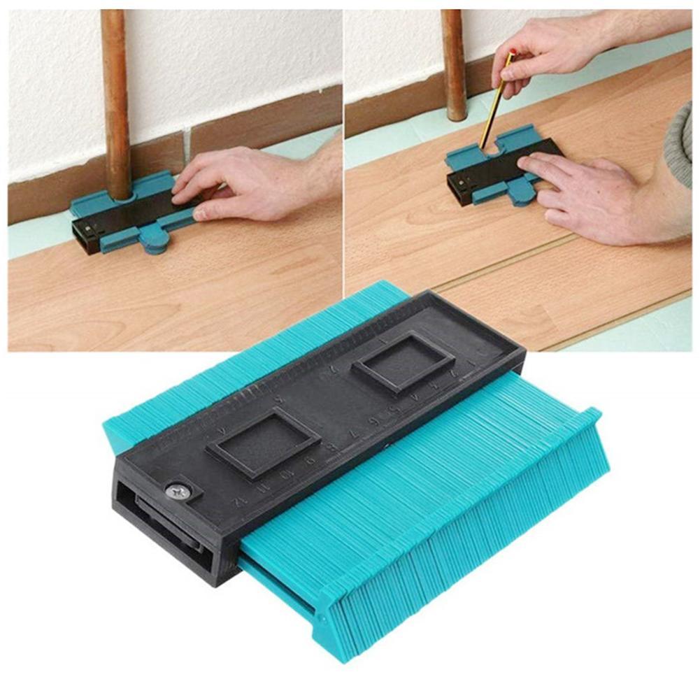 Calibrador de plástico, perfil de contorno, duplicador de copias, herramienta de marcado de madera estándar de 5 anchos, baldosas laminadas de azulejos, herramientas generales 40P