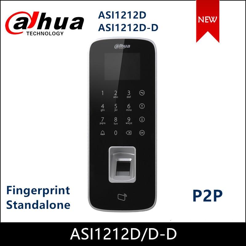 Dahua Control de Acceso a prueba de agua huella digital teclado táctil independiente pantalla LCD soporte P2P agregar servicio asi12d ASI1212D-D