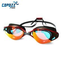 Copozz Professional Anti-Fog UV Protection Adjustable Swimming Goggles Men Women Waterproof silicone glasses Adult Eyewear