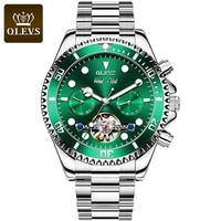 olevs men business mechanical watch top brand luxury wrist watches stainless steel clock gifts for boyfriend relogio masculion