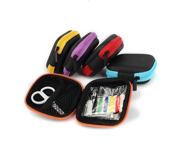 Herramientas De Costura Porttil Mini Caja De Almacenamiento Kits De Costura De...