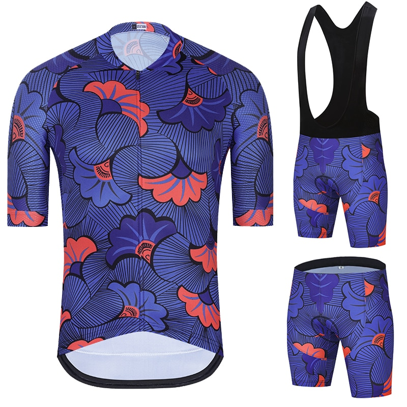 2021 New Cycling jersey Set Pro Team Men's Summer Road Set Maillot bicycle Jersey Bib Gel Shorts Ropa Maillot Ciclismo Triathlon