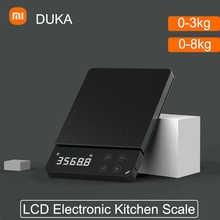 Бытовые цифровые электронные весы Xiaomi DUKA ATuMan ES1, 0-8 кг, многофункциональные электронные пищевые весы с HD-подсветкой для кухни