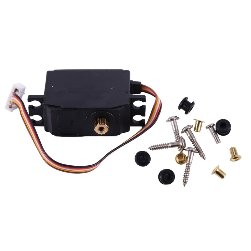 For WLtoys 12428 12423 25G Electric Servo Motor Upgraded Metal Steering Gear Servo RC Car Truck Vehicle Parts Accessory enlarge