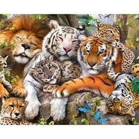 diamond painting 5d diamonds diy animal cross stitch full square round drill embroidery colorful handmade home room wall decor