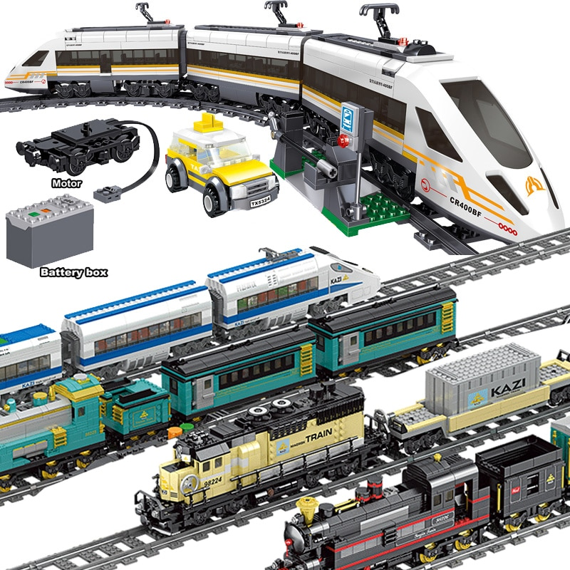 City Train Technical Series with Motor Battery Power Function Rail Track Railway Building Blocks Bri