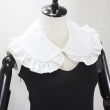 Cotton White Fold Fake Collar Shawl Decoration Lead Detachable Shirt Women Necklace New Free Shipping
