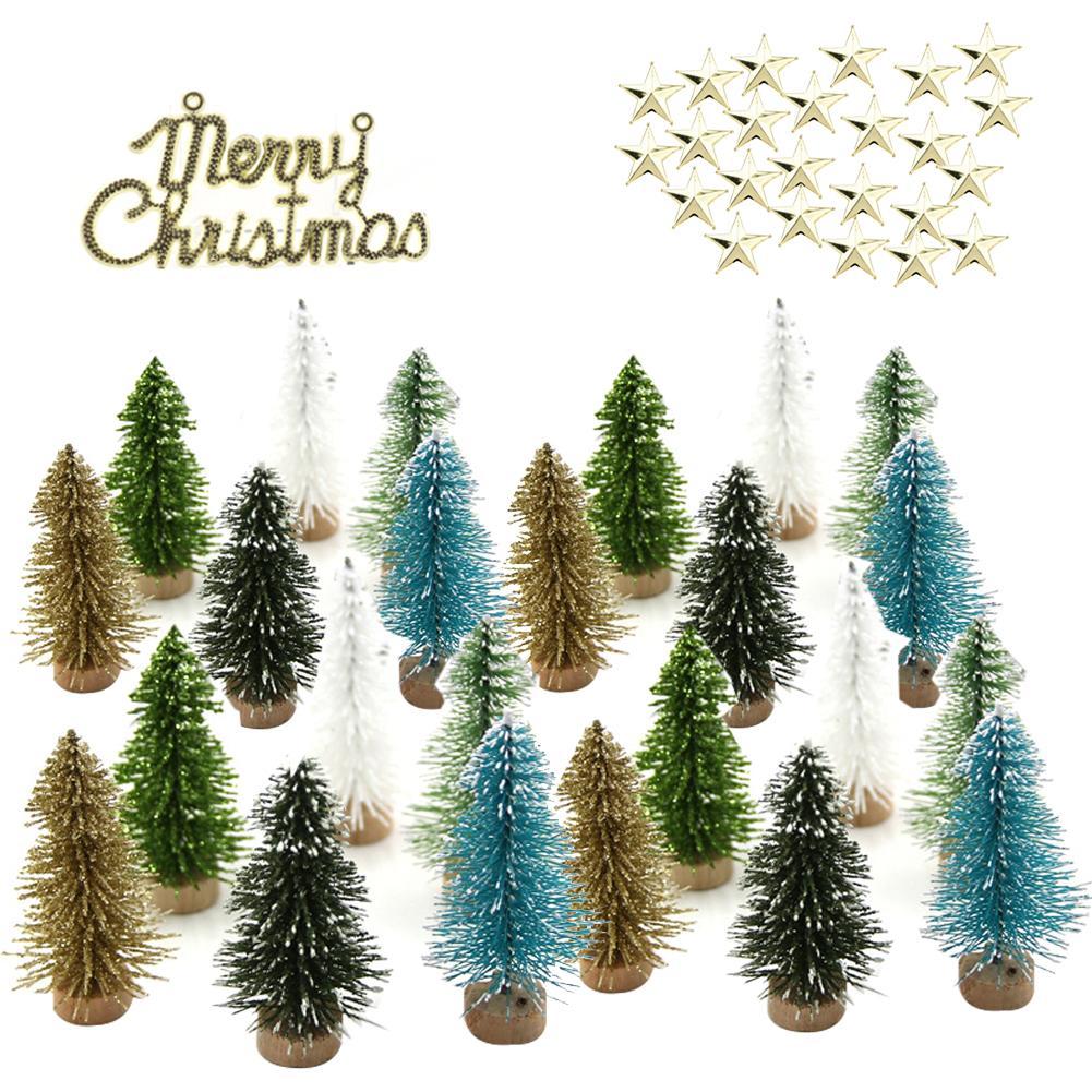 Arbol de árbol de navidad de 49 uds, Mini árbol de navidad...