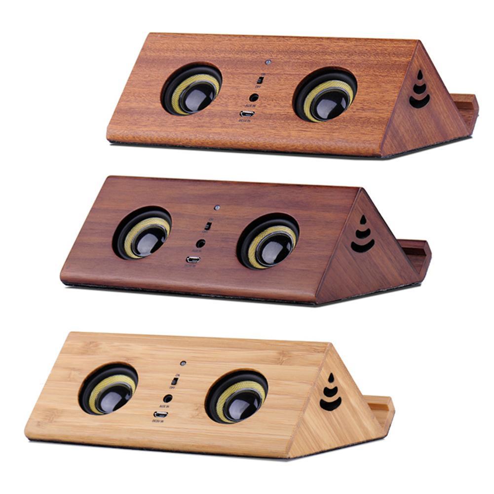 Altavoz de escritorio innovador soporte de teléfono Retro Mini altavoz estéreo portátil reducción de ruido manos libres llamada batería incorporada