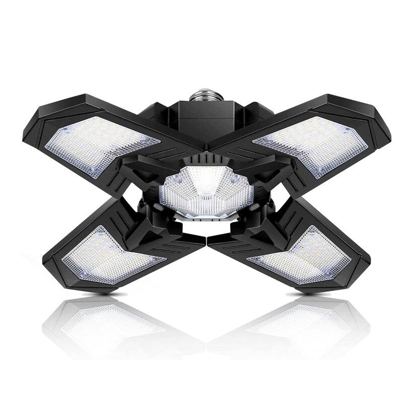 120W светодиодное освещение гаража, E26/E27 винтовые светильники для гаража, супер яркий светильник для цеха, склада, сарая подвала