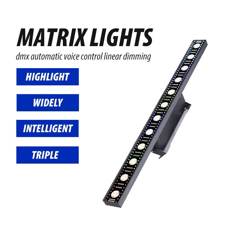 14*3 واط أضواء للمسرح Led اضواء المصفوفات RGB Led شعاع الجدار غسالة بار Dj الإضاءة 3in1 فلاش ديسكو معدات للحزب الموسيقى الحدث