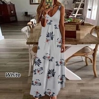 2021 summer new fashion womens explosive style casual printed hanging wide loose dress maxi skirt