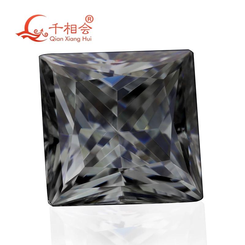 اللون الرمادي شكل مربع الأميرة قطع سيك المواد مويسانيتس حجر فضفاض بواسطة qinxanghui (الفيديو أصفر فاتح)