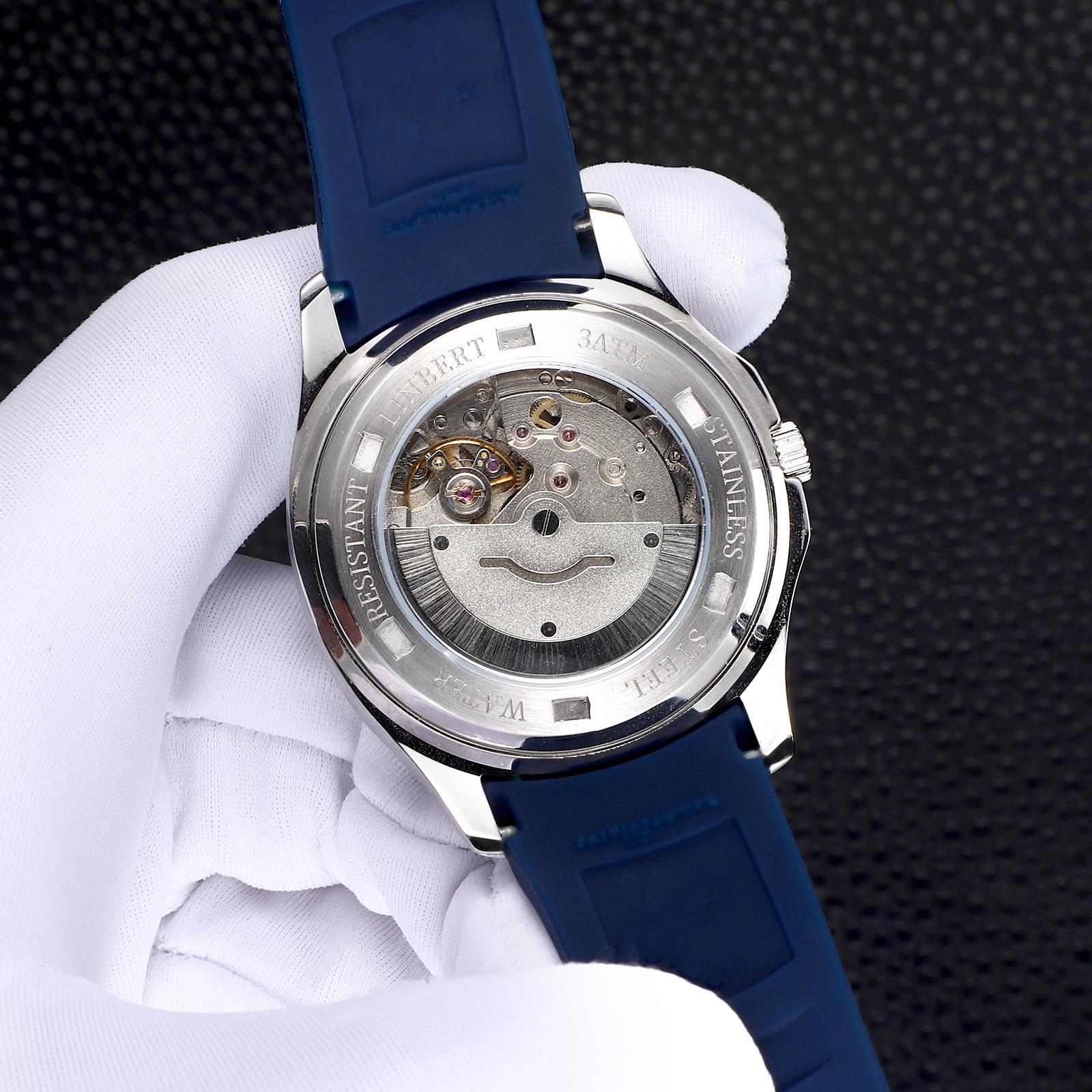 LINBRT Brand Watch Top Luxury Men's Waterproof Luminous Wrist AAA Watch Men's Watch 2021 New Automatic Mechanical Patek Watch enlarge