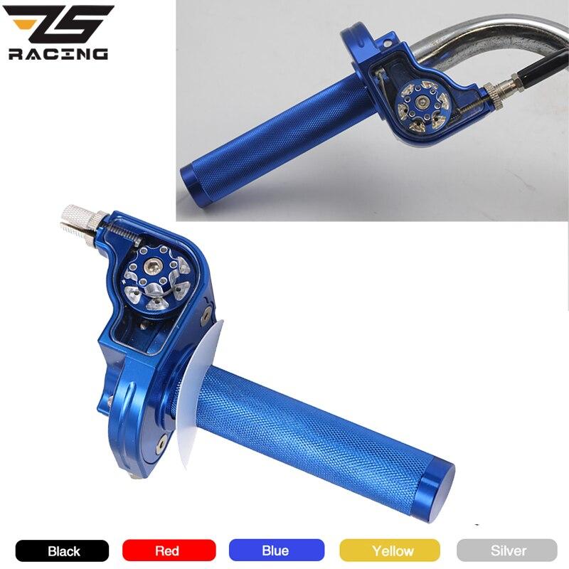 ZS Racing Motorcycle Visual Adjustment Handlebar Throttle Grips 22mm Universal CNC Aluminum Twist Throttle Grip M10*1.5