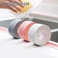 Bande adhesive de scellage en PVC blanc  7 couleurs  bande adhesive pour salle de bains  cuisine  douche  evier  bain  autocollant mural impermeable