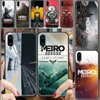 metro 2033 exodus game phone case for huawei honor 6 7 8 9 10 10i 20 a c x lite pro play black luxury waterproof soft shell tpu